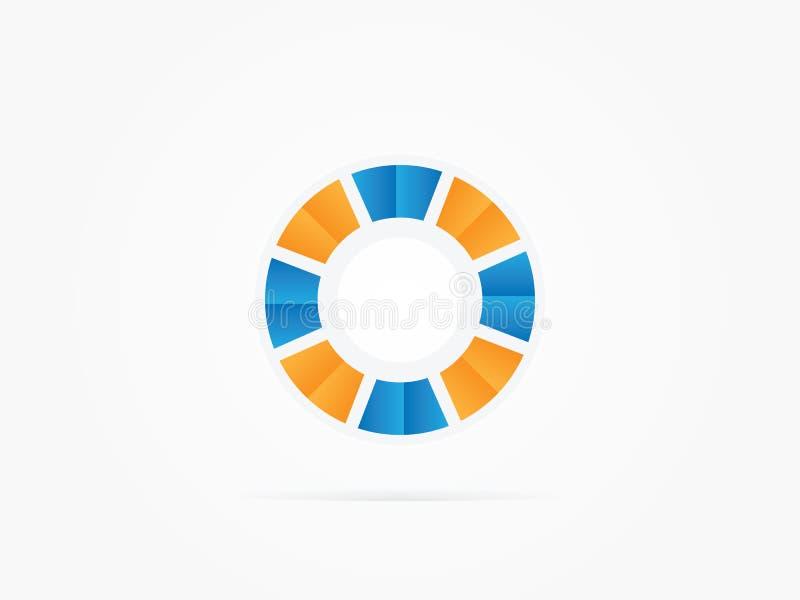 Logotipo do círculo da rotação do sumário da ilustração do vetor fotografia de stock royalty free