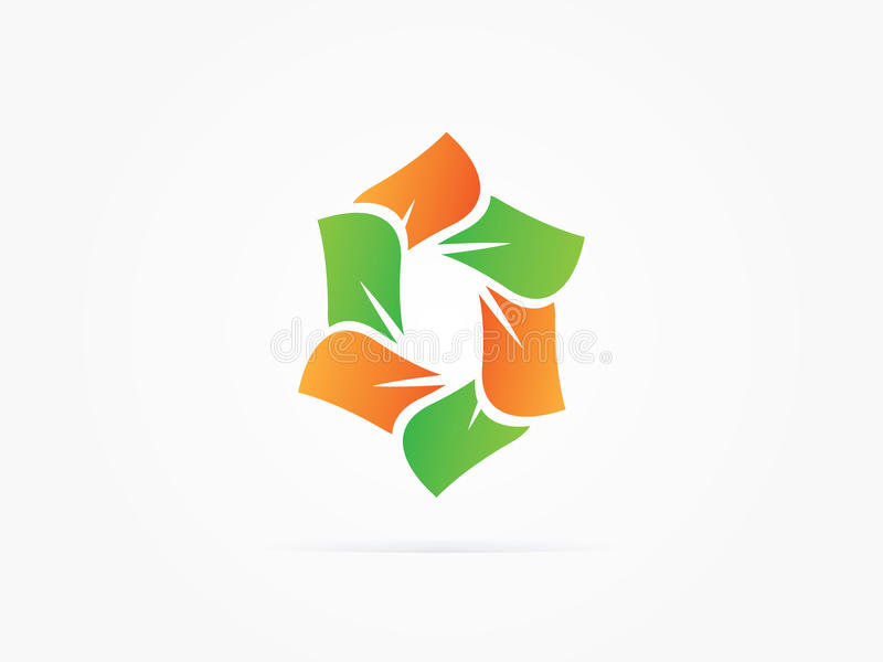 Logotipo do círculo da rotação do sumário da ilustração do vetor fotos de stock royalty free