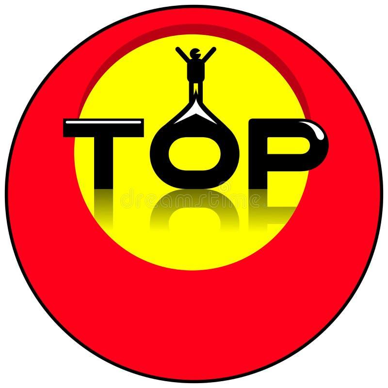 Logotipo do círculo superior isolado ilustração stock