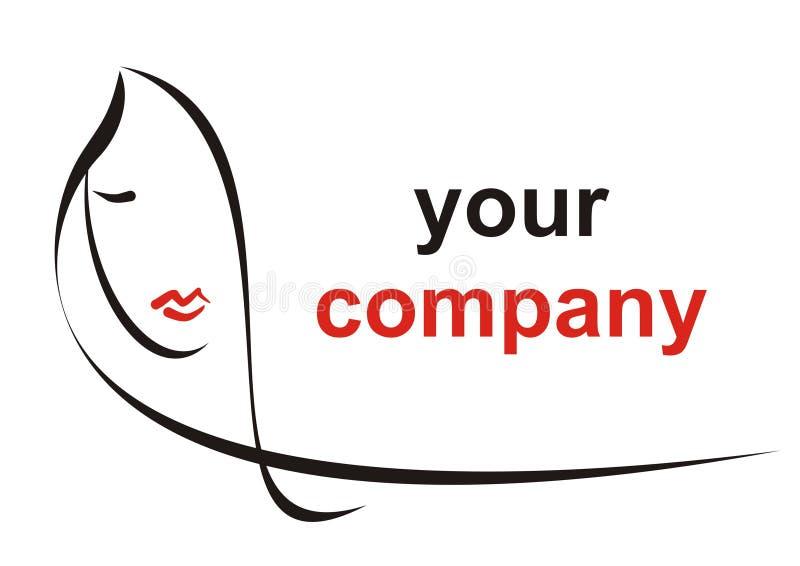 Logotipo do cabelo ilustração stock