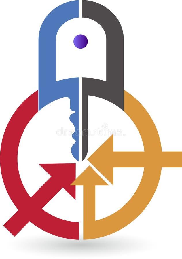 Logotipo do cacifo da segurança ilustração do vetor