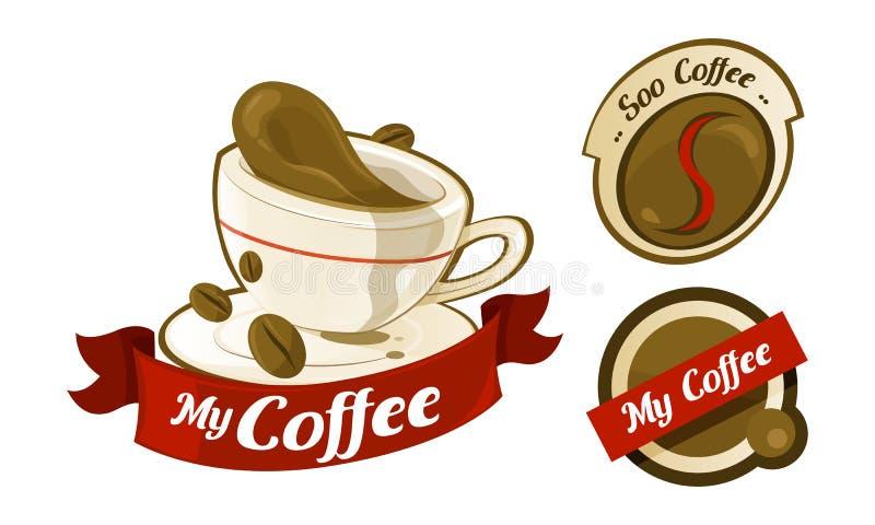 Logotipo do café imagem de stock