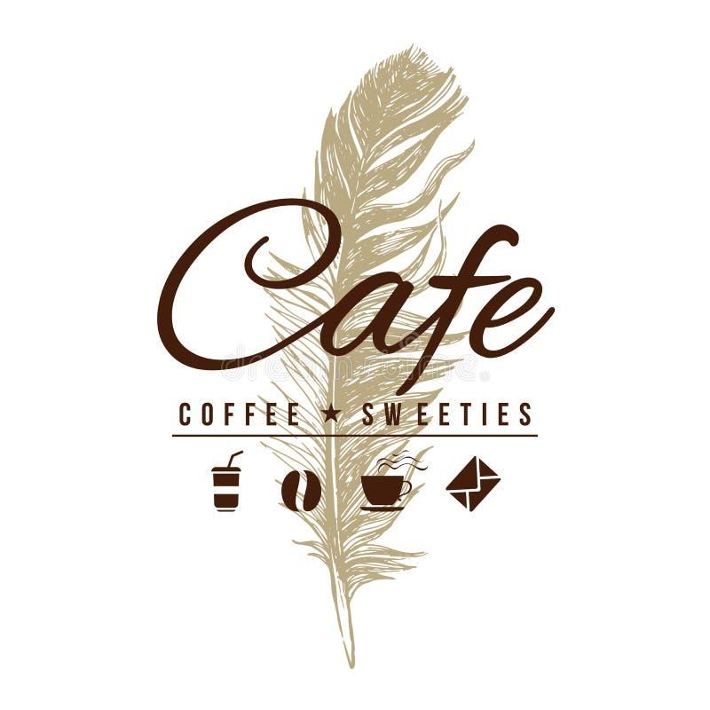 Logotipo do café no estilo do vintage ilustração do vetor