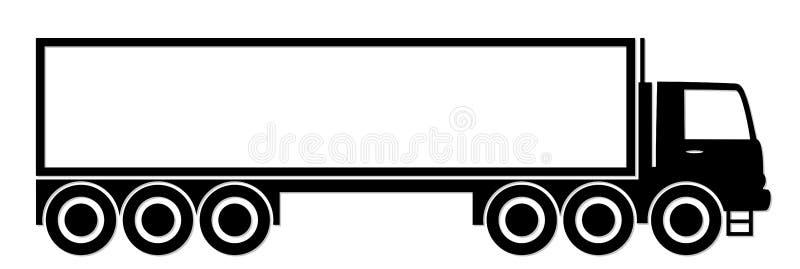 Logotipo do caminhão grande ilustração royalty free