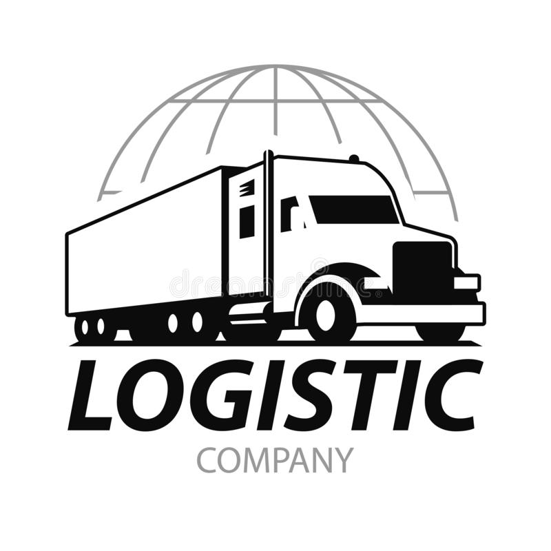 Logotipo do caminhão do vetor ilustração stock