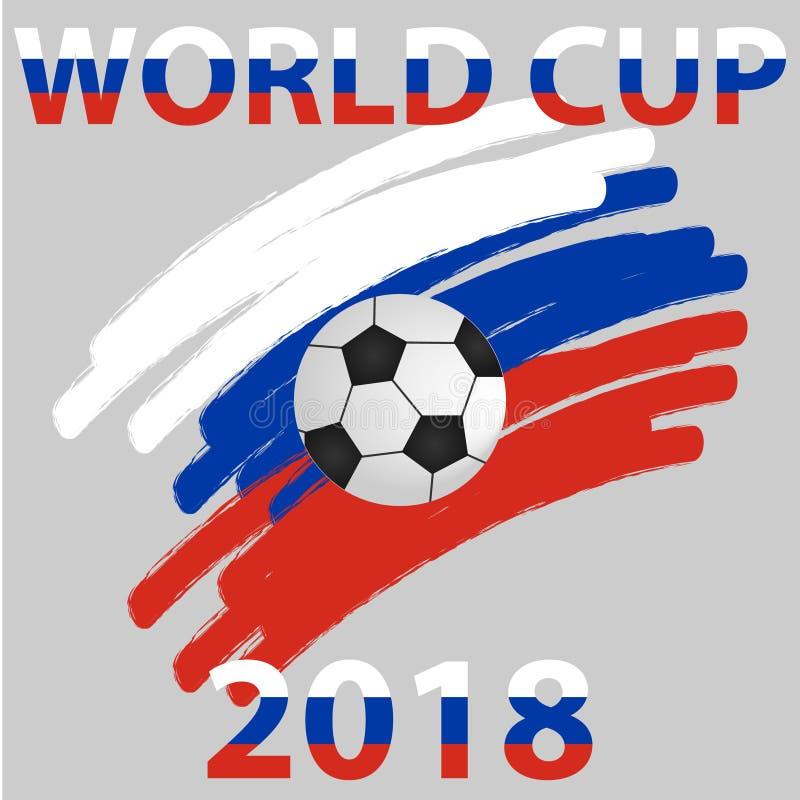 Logotipo do campeonato do mundo 2018 Crachá do campeonato do mundo ilustração royalty free
