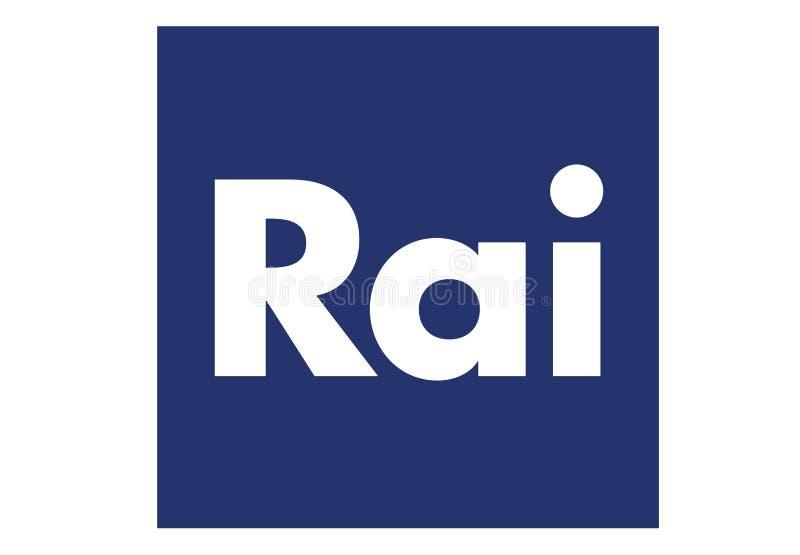 Logotipo do canal de Rai fotografia de stock