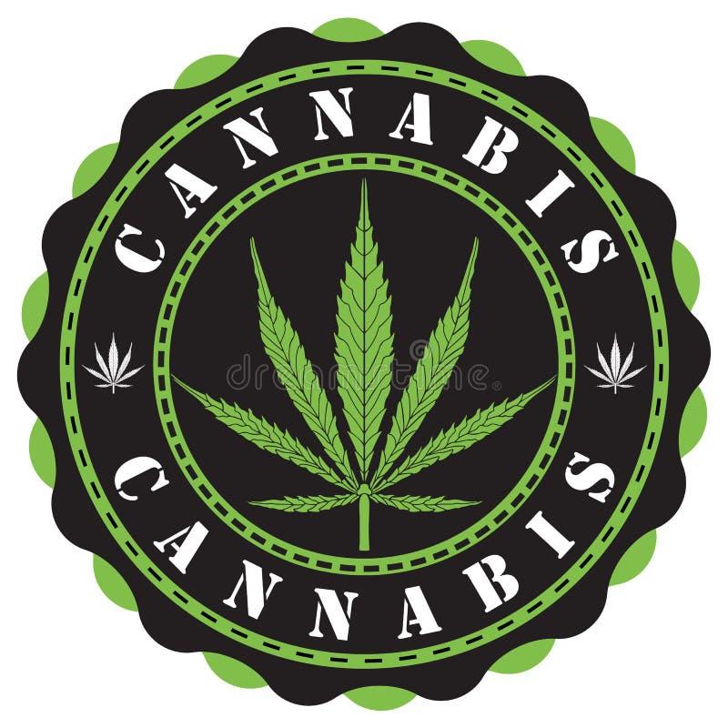 LOGOTIPO do cannabis ilustração royalty free