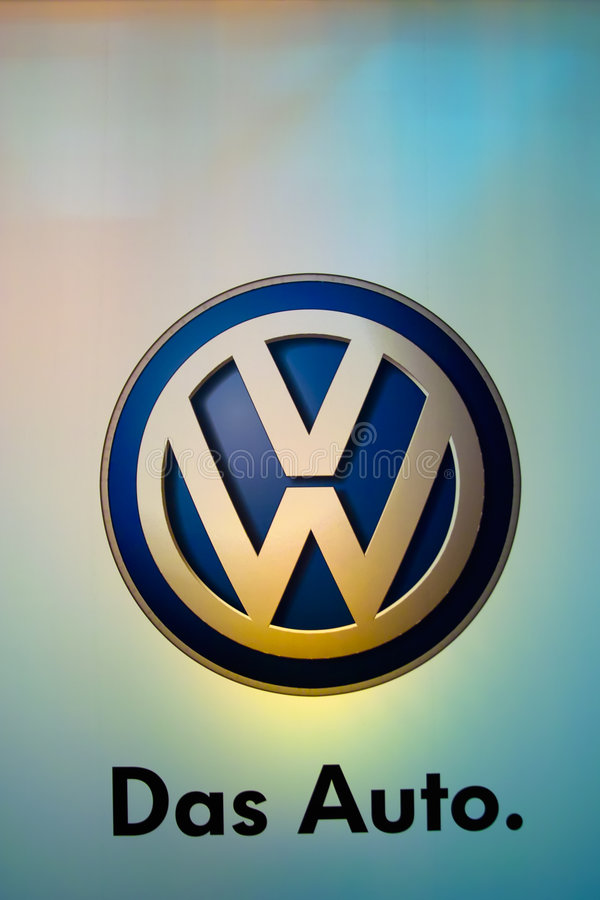 Logotipo do carro da VW, fotografia de stock