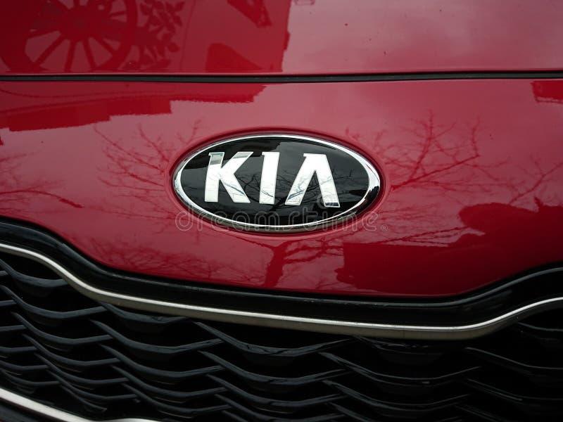 Logotipo do carro de Kia fotografia de stock royalty free