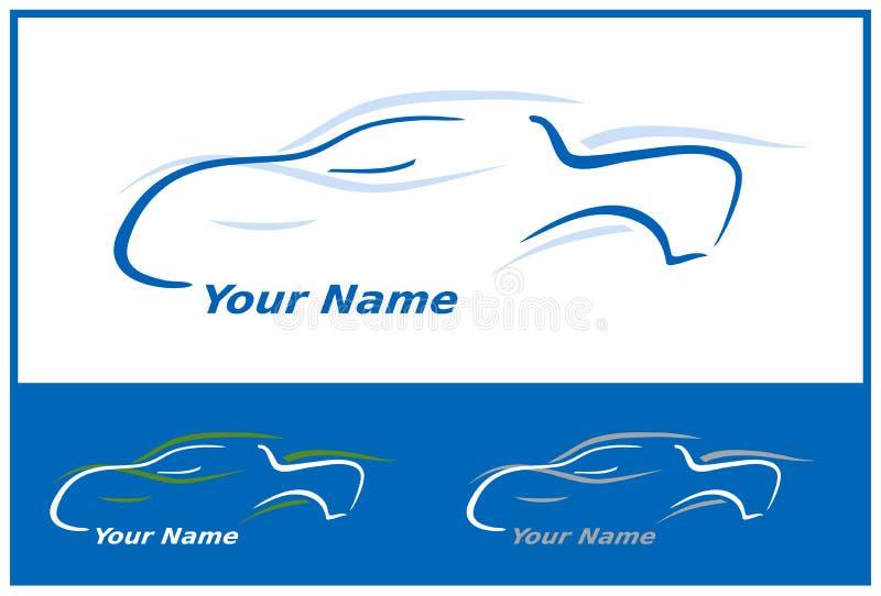 Logotipo do carro no azul ilustração do vetor
