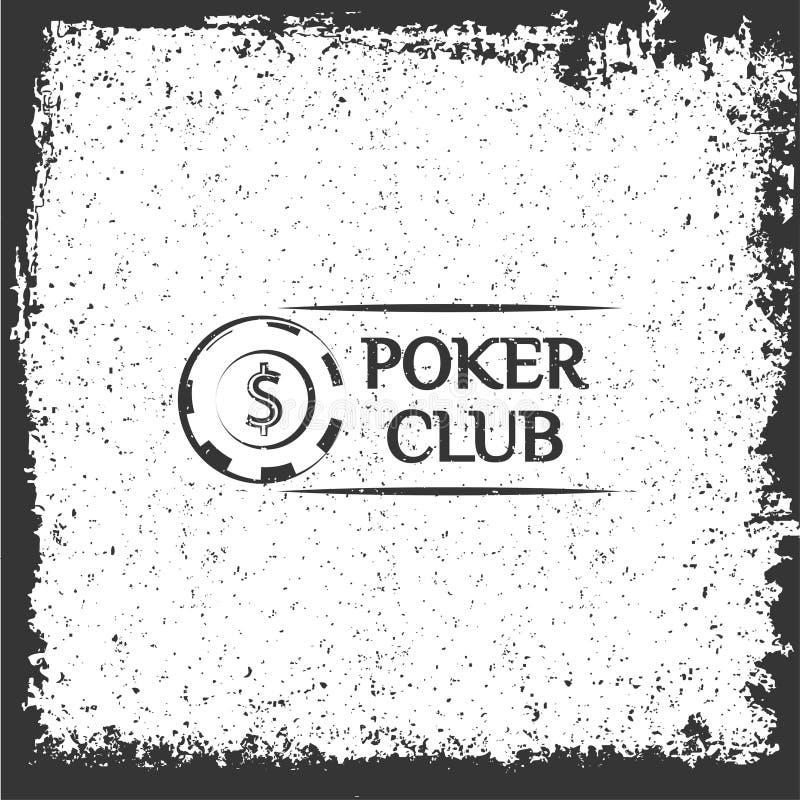 Logotipo do casino de Pocker microplaquetas Ilustração do vetor ilustração royalty free