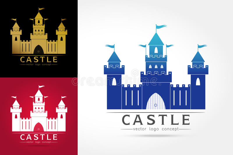 Logotipo do castelo foto de stock