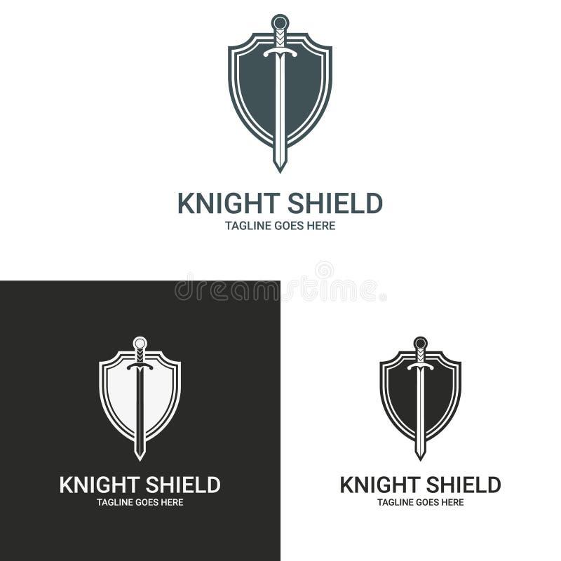 Logotipo do cavaleiro ilustração royalty free