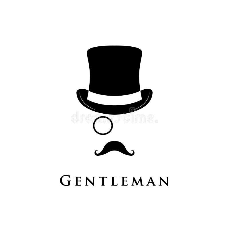 Logotipo do cavalheiro Vetor ilustração royalty free