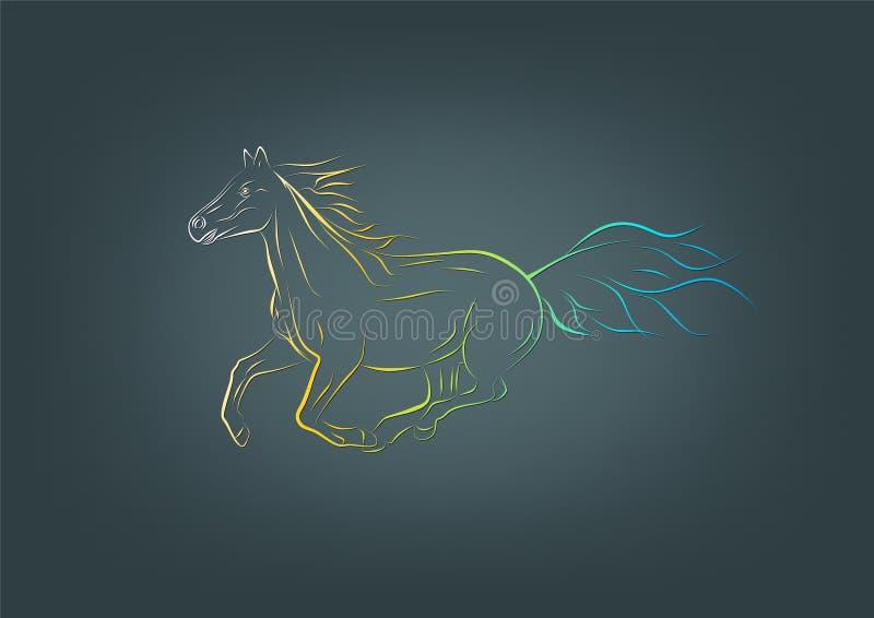 Logotipo do cavalo ilustração do vetor