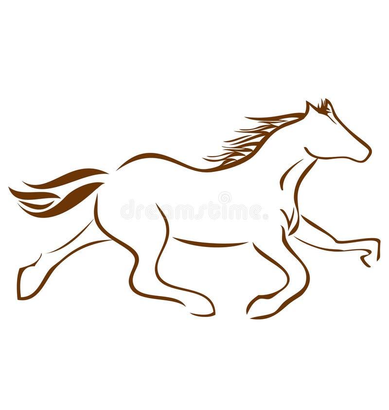 Logotipo do cavalo de competência ilustração royalty free