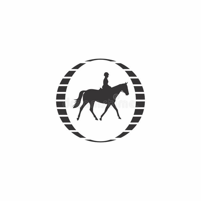 Logotipo do cavalo de equitação foto de stock royalty free