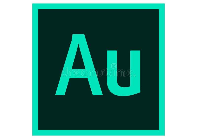 Logotipo do centímetro cúbico da audição de Adobe ilustração stock