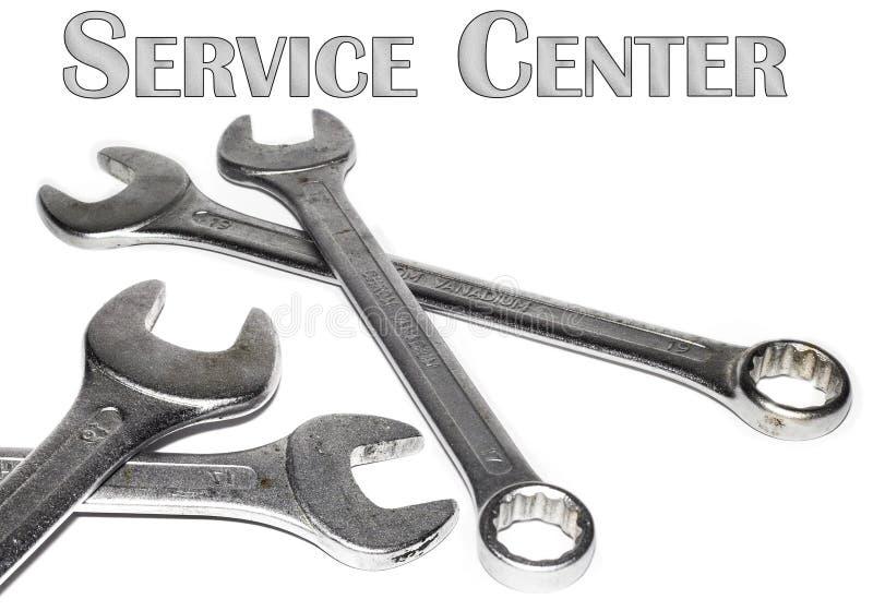 Logotipo do centro de serviço fotografia de stock