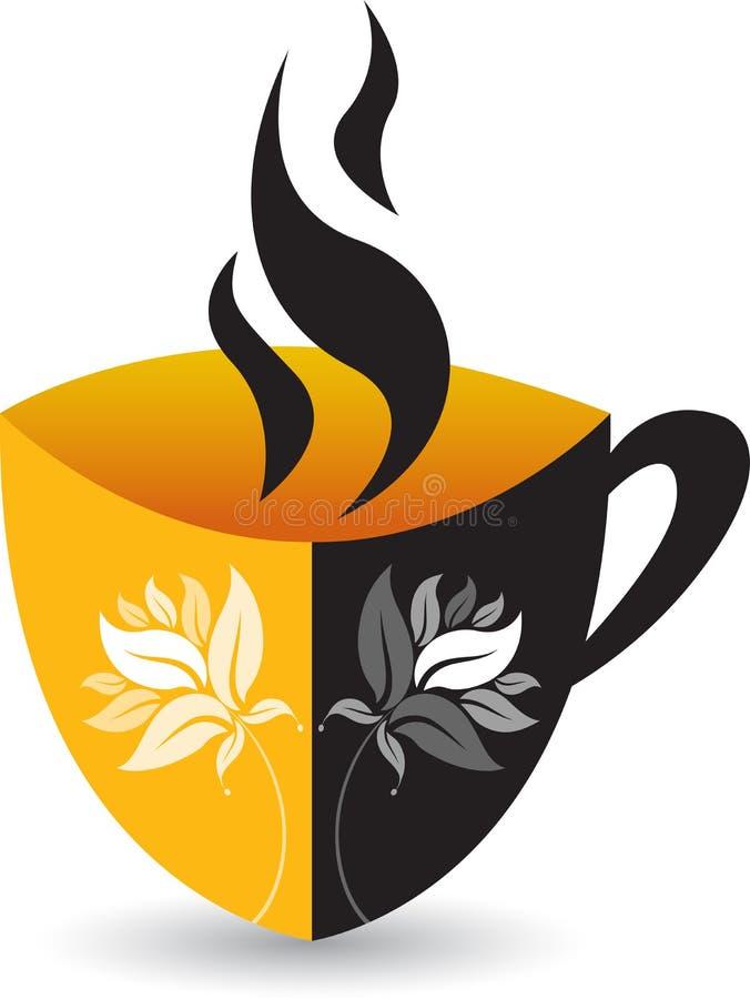 Logotipo do chá do copo ilustração do vetor