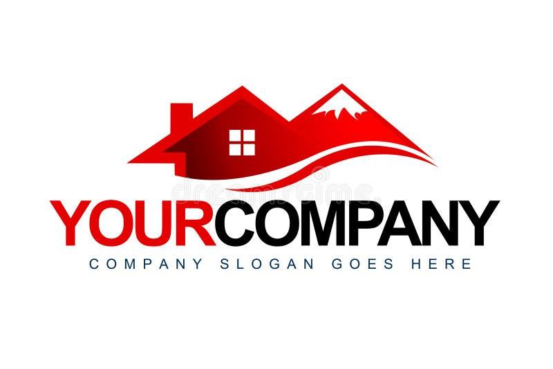 Logotipo do chalé da montanha ilustração do vetor