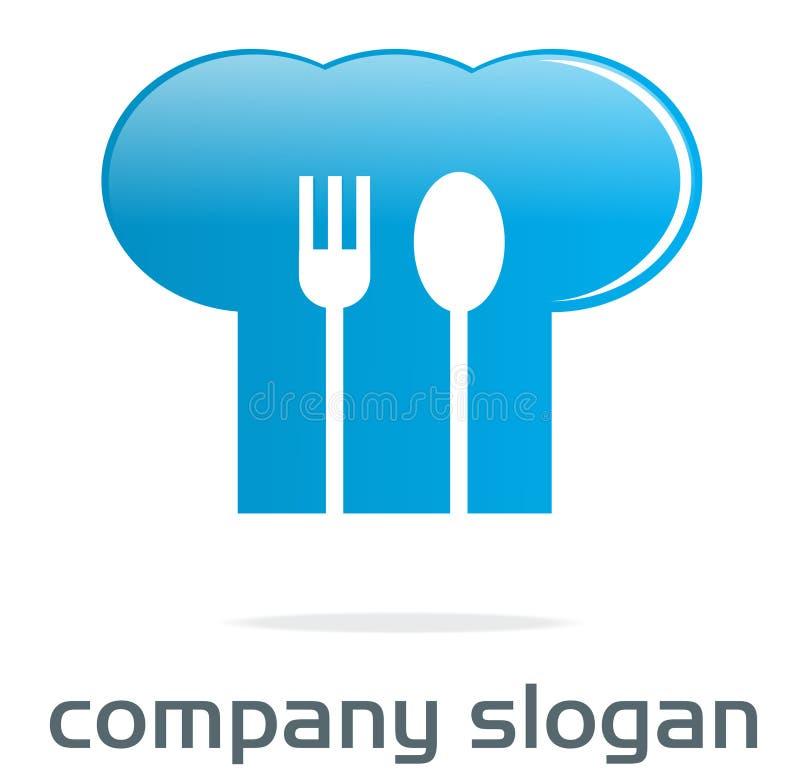 Logotipo do chapéu do cozinheiro chefe ilustração royalty free