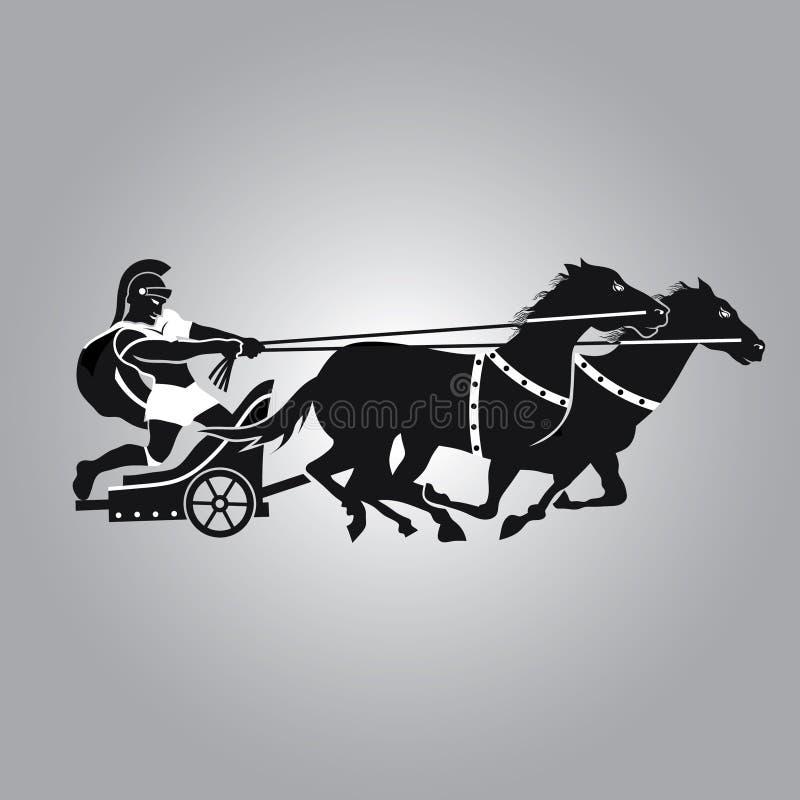 Logotipo do Chariot do vintage ilustração do vetor