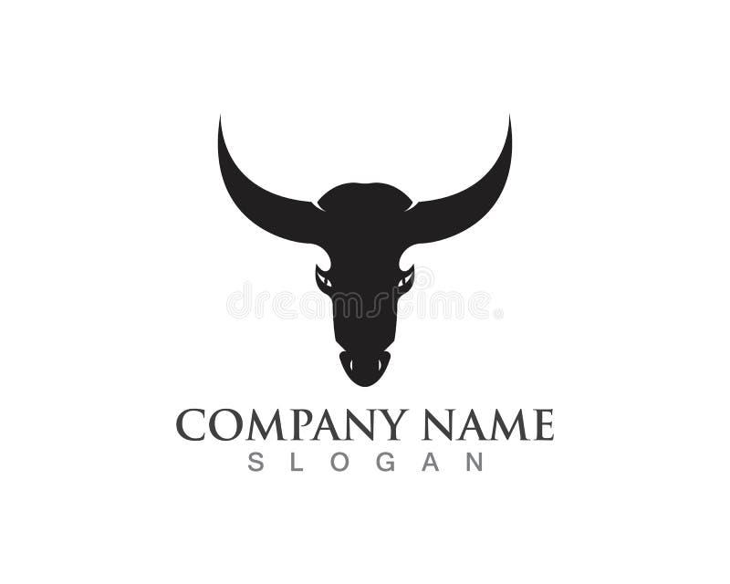 Logotipo do chifre de Bull e ícones app do molde dos símbolos ilustração royalty free
