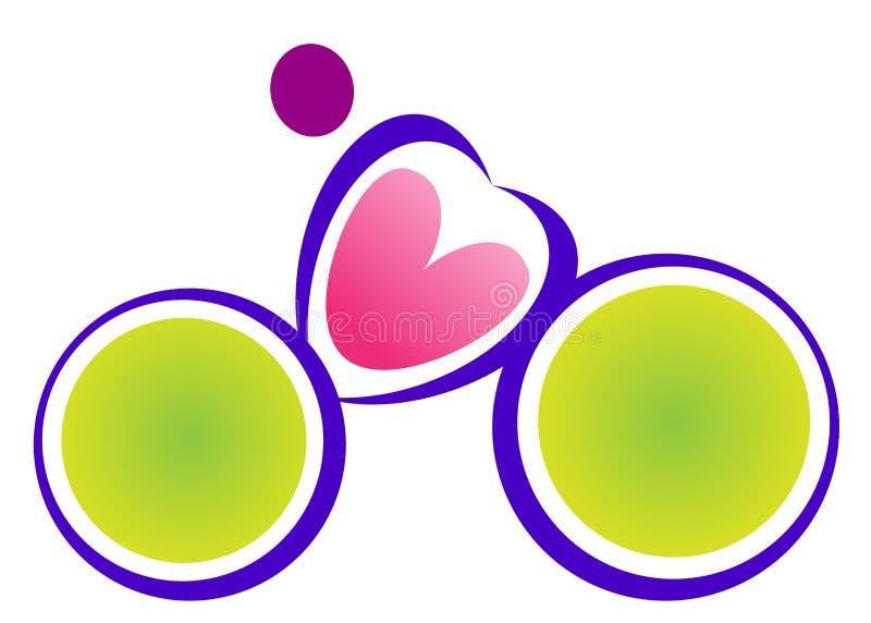 Logotipo do ciclo ilustração stock