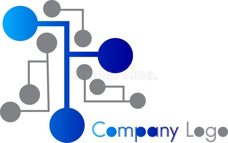 Logotipo do circuito ilustração royalty free
