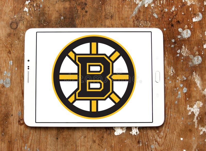 Logotipo do clube da equipe de hóquei em gelo dos Boston Bruins fotos de stock royalty free