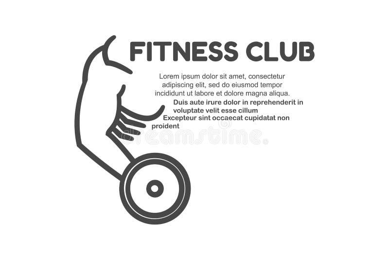 Logotipo do clube de aptidão ilustração stock