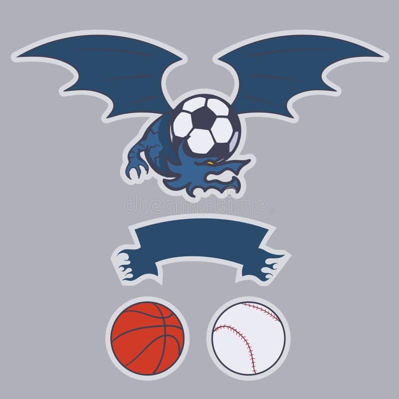 Logotipo do clube do dragão ilustração royalty free
