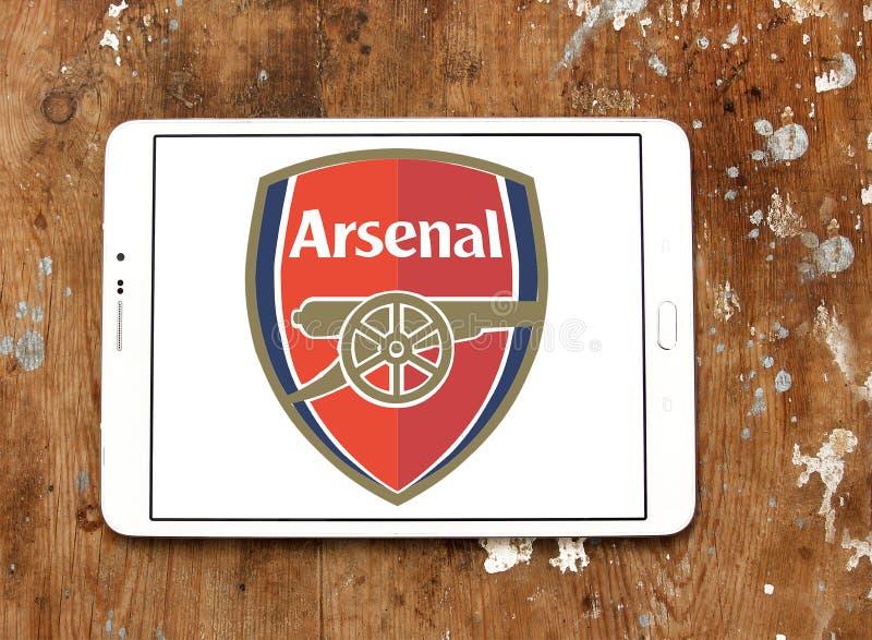 Logotipo do clube do futebol do arsenal fotos de stock royalty free
