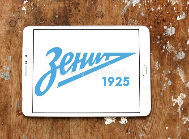 Logotipo do clube do futebol do russo de Zenit fotografia de stock