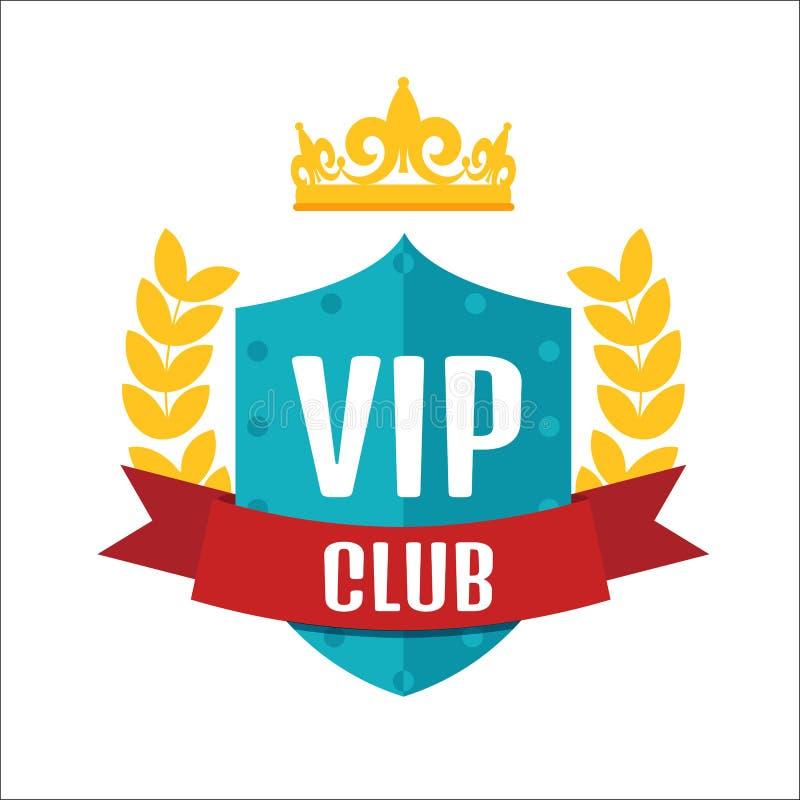 Logotipo do clube do VIP ilustração do vetor