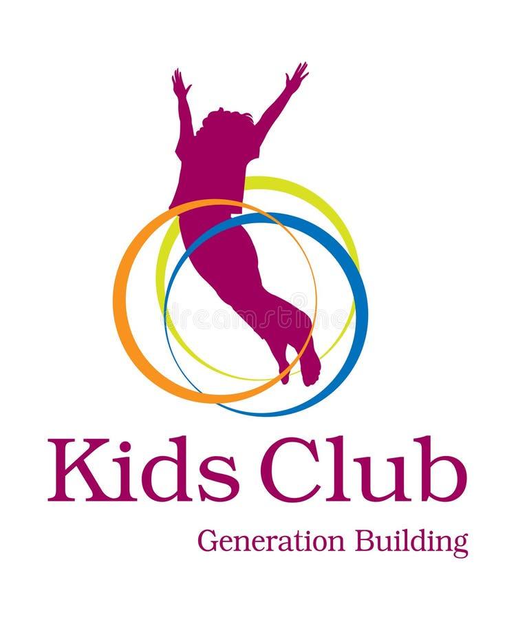 Logotipo do clube dos miúdos imagem de stock royalty free