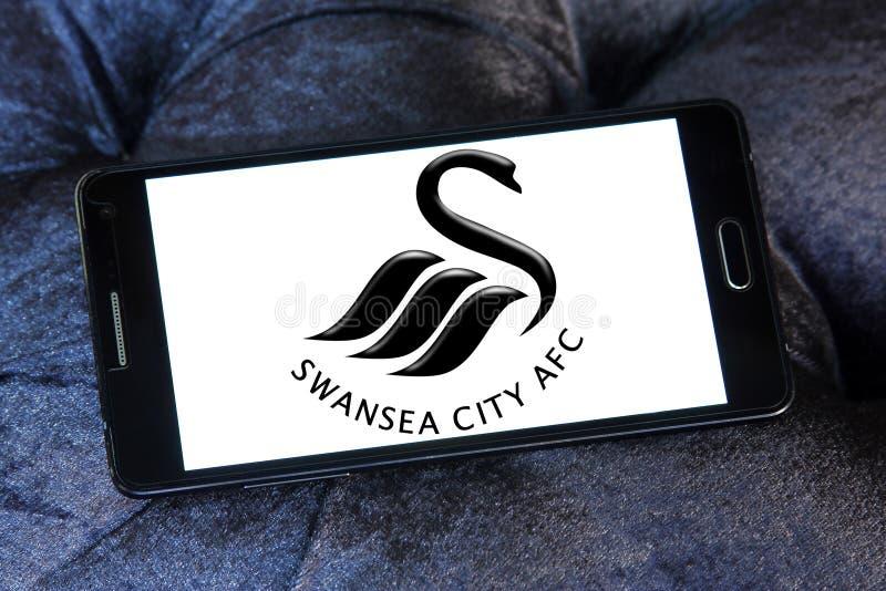 Logotipo do clube do futebol da cidade de Swansea foto de stock royalty free