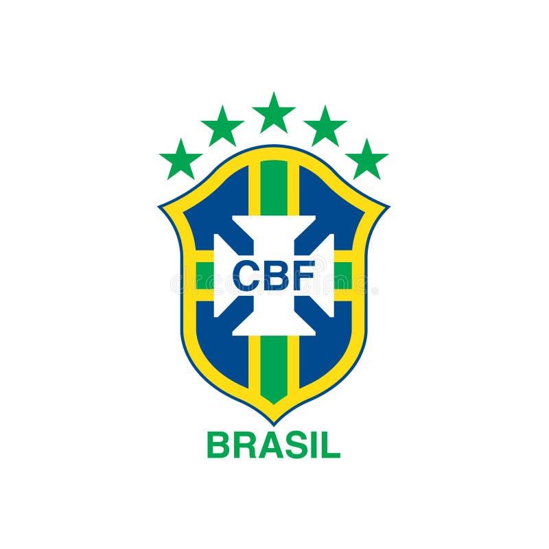 Logotipo do clube do futebol de CBF Brasil ilustração royalty free