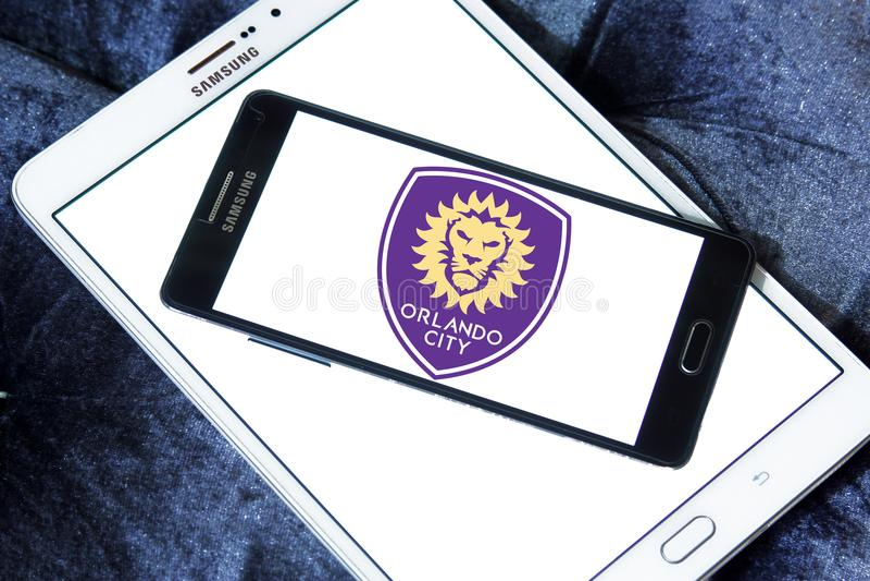 Logotipo do clube do futebol do SC de Orlando City imagens de stock royalty free