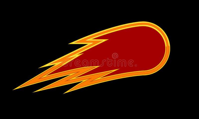 Logotipo do cometa do fogo ilustração stock
