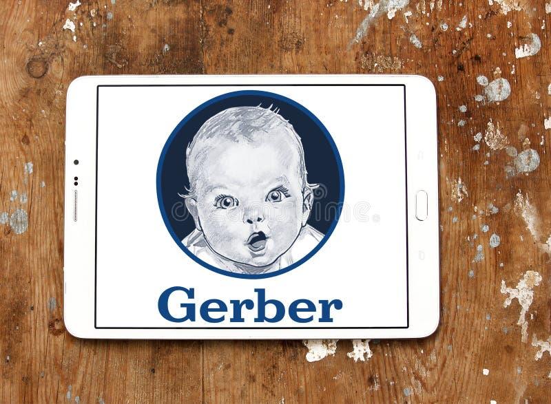Logotipo do comida para bebê de Gerber imagens de stock
