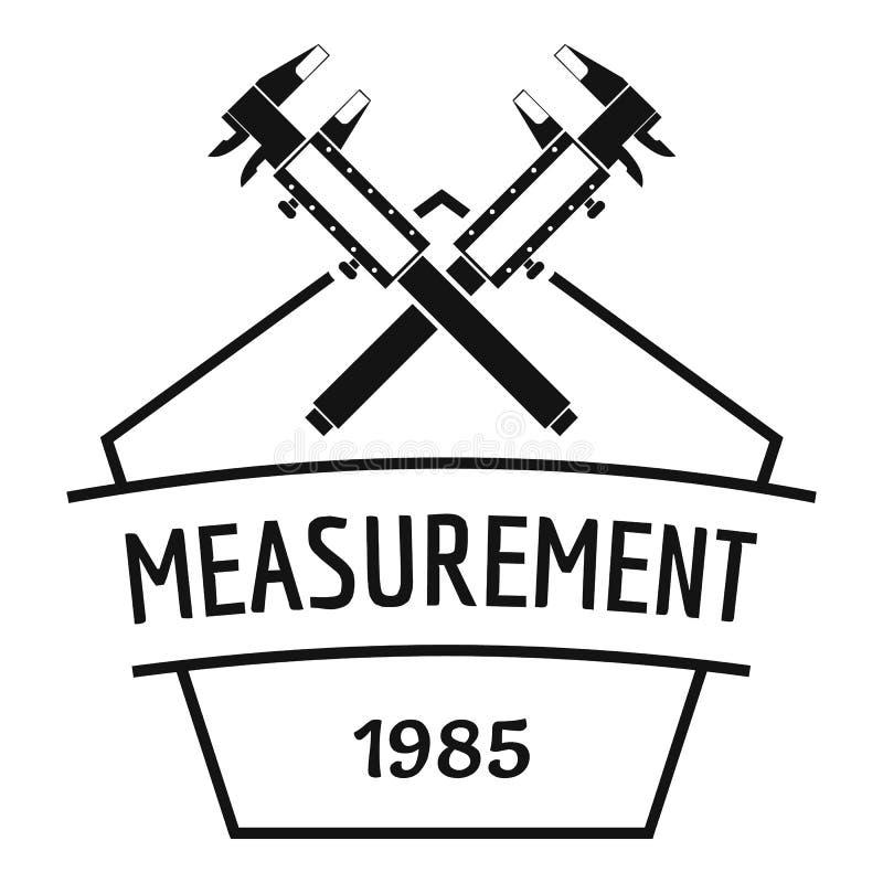 Logotipo do compasso de calibre vernier, estilo preto simples ilustração royalty free