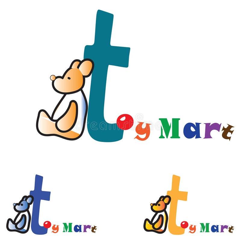 Logotipo do conceito da loja de brinquedos das crianças ilustração stock