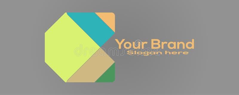 Logotipo do conceito do vetor do negócio Ilustração do vetor Elemento do projeto do ícone com molde do cartão ilustração royalty free