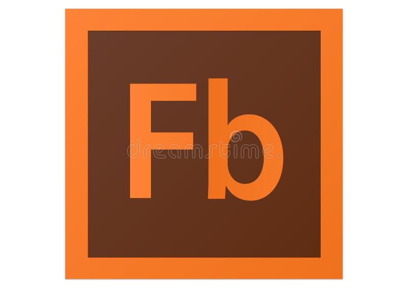 Logotipo do construtor CS6 do flash de Adobe ilustração royalty free