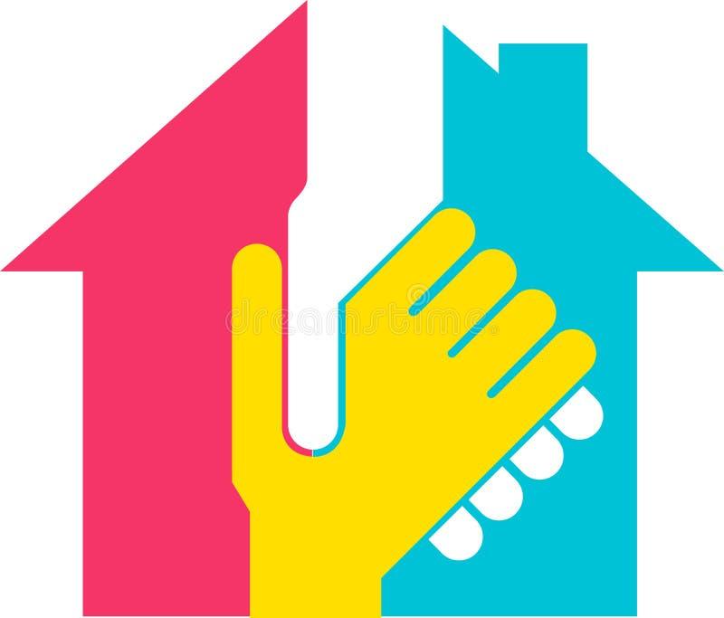 Logotipo do construtor da mão ilustração royalty free