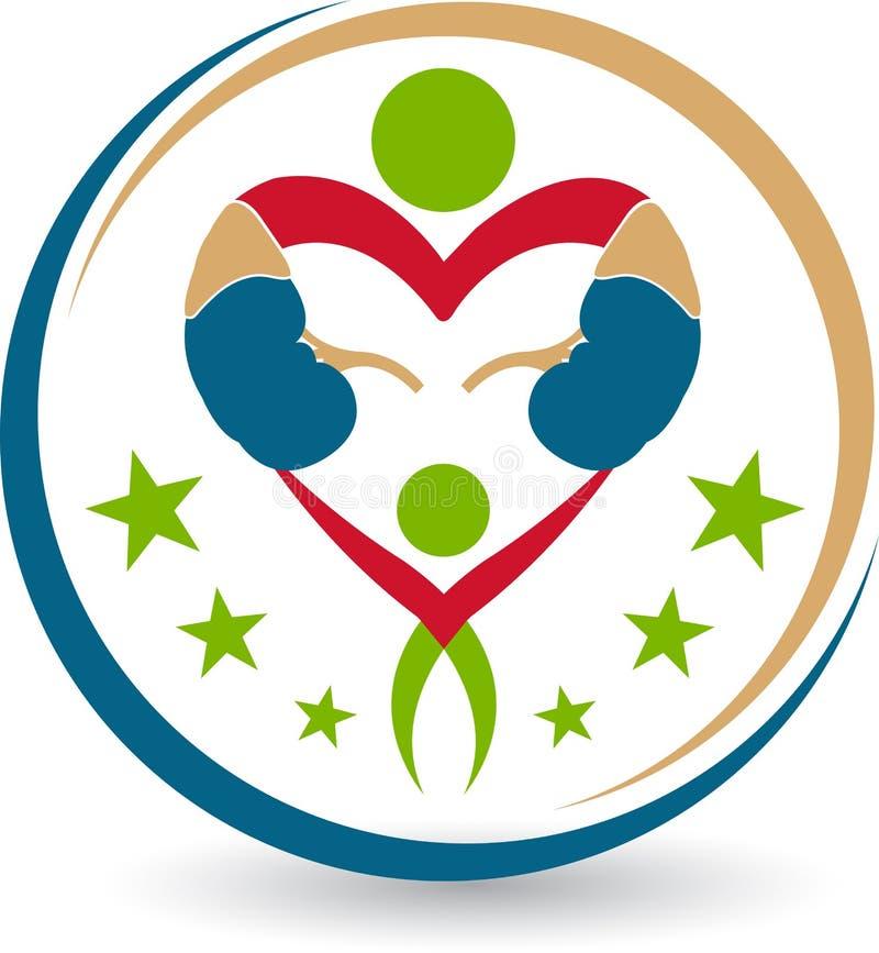 Logotipo do coração dos povos ilustração stock