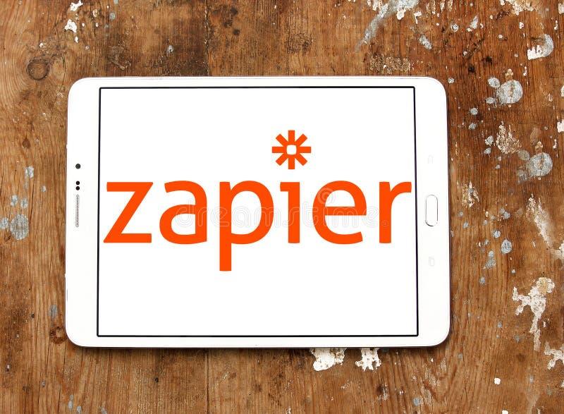 Logotipo do corporaçõ de Zapier imagens de stock
